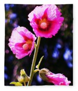 Pink Red Flower Fleece Blanket