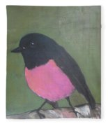 Pink Robin Fleece Blanket