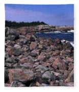 Pink Rock Shoreline Fleece Blanket