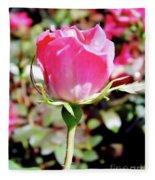 Pink - Rose Bud - Beauty Fleece Blanket
