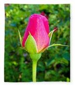 Pink Rose Bud Fleece Blanket