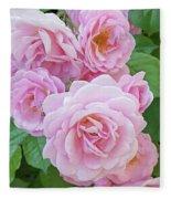Pink Rose Cluster II Fleece Blanket