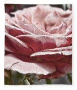 Pink Rose Faded Fleece Blanket
