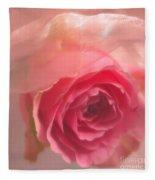 Pink Rose Fantasy 3 Fleece Blanket
