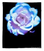 Pink Rose Has The Blues Fleece Blanket