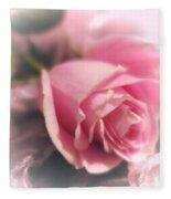 Pink Rose Macro Abstract 1 Fleece Blanket