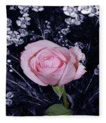 Pink Rose Of Imperfection Fleece Blanket