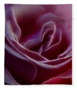 Pink Rose Portrait Fleece Blanket
