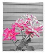 Pink Rose Tree Pop Fleece Blanket