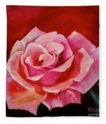 Pink Rose With Dew Drops Jenny Lee Discount Fleece Blanket