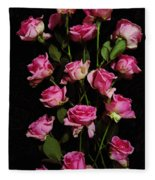 Pink Roses 1 Fleece Blanket