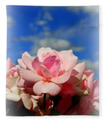 Pink Roses Against The Beautiful Arizona Sky Fleece Blanket