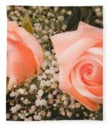 Pink Roses Fine Art Photography Print Fleece Blanket