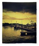 Pink Shell Marina Fleece Blanket