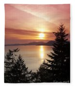 Pink Sky At Night Fleece Blanket