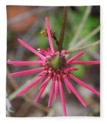 Pink Spikes Fleece Blanket