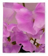 Pink Sweetpeas Fleece Blanket