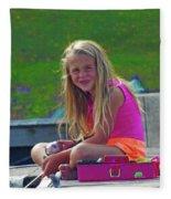 Pink Tackle Box Fleece Blanket