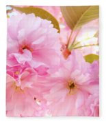 Pink Tree Blossoms Art Prints Spring Blossoms Baslee Troutman Fleece Blanket