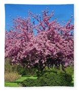 Pink Tree Fleece Blanket
