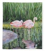Pink Trio Fleece Blanket