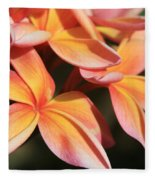 Pink Tropical Plumeria Makawao Maui Hawaii Fleece Blanket