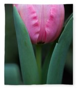 Pink Tulip Panoramic Fleece Blanket