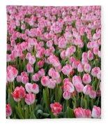 Pink Tulips- Photograph Fleece Blanket