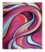 Pink Wave Of Energy. Abstract Vision Fleece Blanket