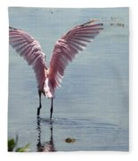 Pink Wings Fleece Blanket
