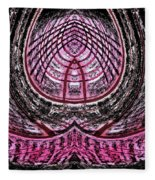 Pink World Or Enlightenment Fleece Blanket