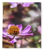 Pink Zinnia Bokeh Fleece Blanket