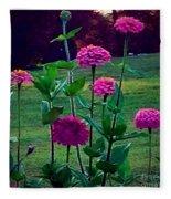 Pink Zinnia's Fleece Blanket