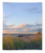 Pinkish Lighthouse Fleece Blanket