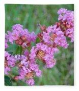 Pinkish Red Flower Bloom Close Up Fleece Blanket