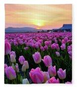 Pinks At Sunset Fleece Blanket