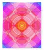 Pinwheel In Motion Fleece Blanket