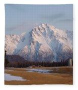 Pioneer Peak Alaska Fleece Blanket