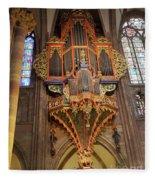 Pipe Organ In Strasbourg Cathedral Fleece Blanket