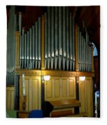 Pipe Organ Of Old Fleece Blanket