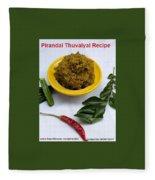 Pirandai Thuvaiyal Recipe Fleece Blanket
