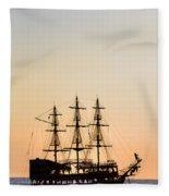 Pirate Boat Fleece Blanket