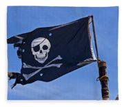 Pirate Flag Skull And Cross Bones Fleece Blanket