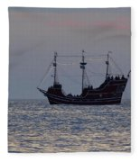 Pirate Ship At Clearwater Fleece Blanket