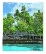 Pirate Ship Cay Fleece Blanket