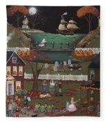 Pirate's Cove Halloween Fleece Blanket