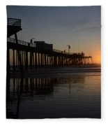Pismo Beach Pier California 4 Fleece Blanket