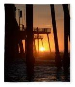 Pismo Beach Pier California 5 Fleece Blanket