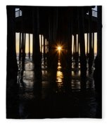 Pismo Beach Pier California 7 Fleece Blanket
