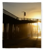 Pismo Beach Pier California 8 Fleece Blanket